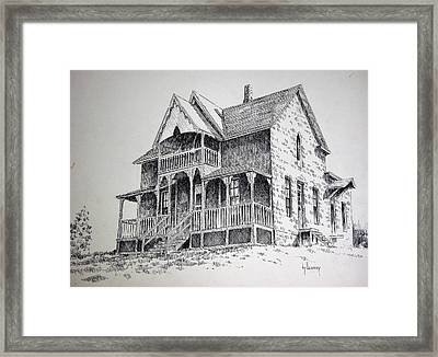 House Virginia City Montana Framed Print by Kevin Heaney