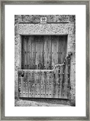 House With Batipuerta In Candelario. Framed Print by Pablo Lopez