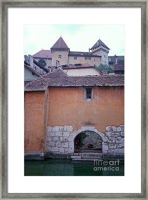House With Landing Place And Castle At Annecy Framed Print