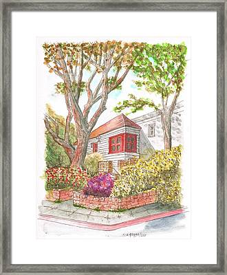 House With Two Trees In Holloway Ave. - West Hollywood - California Framed Print by Carlos G Groppa