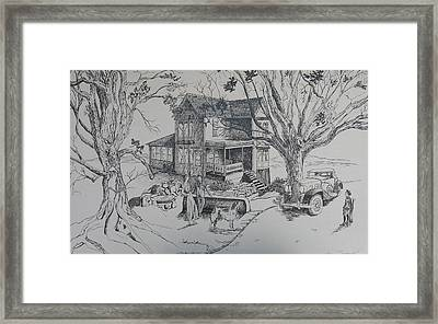 House Years Past Framed Print by Joan Taylor-Sullivant
