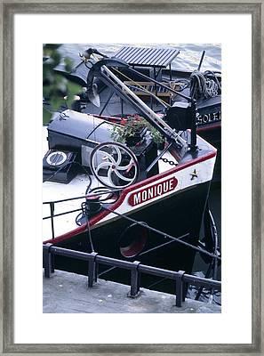 Houseboat In France Framed Print