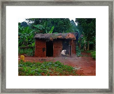 Housecleaning Africa Style Framed Print