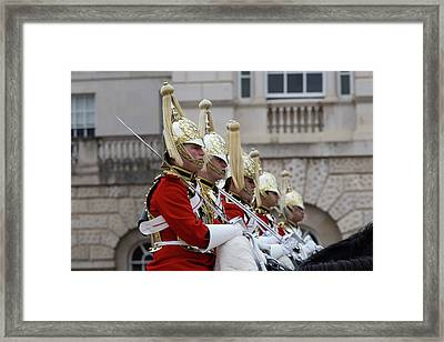 Household Cavalry Changing Of The Guard Framed Print