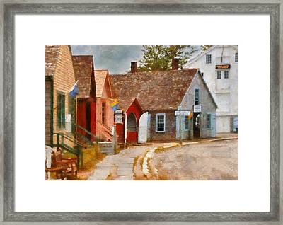 Houses - Maritime Village  Framed Print by Mike Savad