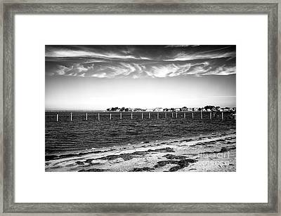 Framed Print featuring the photograph Houses Across Barnegat Bay by John Rizzuto