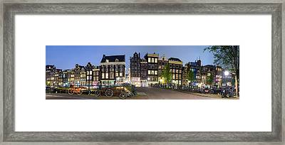 Houses Along The Singel Framed Print by Panoramic Images