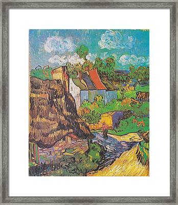 Houses At Auvers Framed Print by Vincent Van Gogh