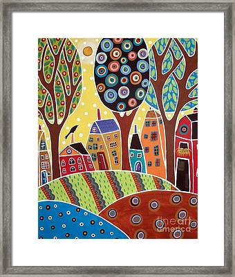 Houses Barn Landscape Framed Print