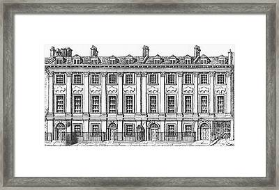 Houses Great Queen Street, 1817 Framed Print by George the Elder Scharf