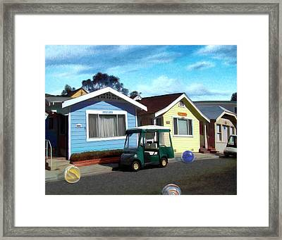 Houses In A Row Framed Print by Snake Jagger