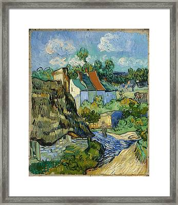 Framed Print featuring the painting Houses In Auvers by Van Gogh