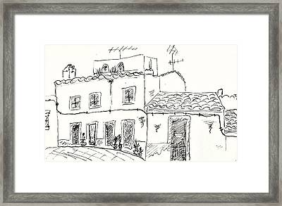 Houses In Elvas Framed Print