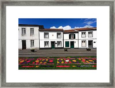 Houses In The Azores Framed Print by Gaspar Avila