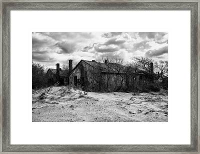 Houses In The Dunes Framed Print