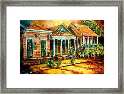 Houses In The Marigny Framed Print by Diane Millsap