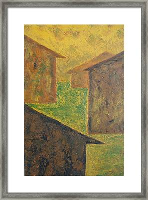 Houses Of 1954 Framed Print by Biagio Civale