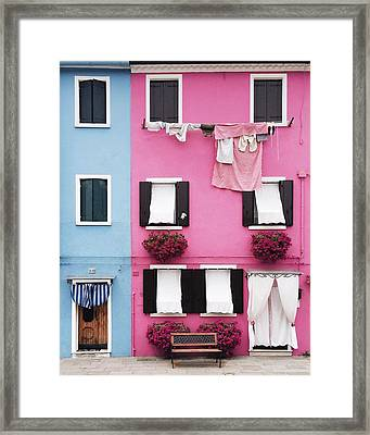 Houses Of Burano 7 Framed Print by Happy Home Artistry