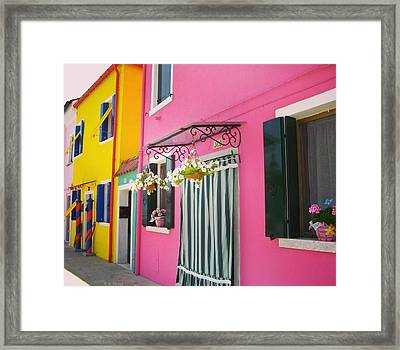 Houses Of Burano 8 Framed Print by Happy Home Artistry
