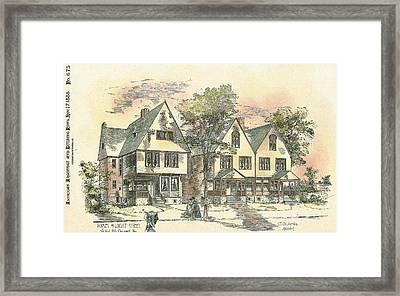 Houses On Locust Street Walnut Hills Cincinnati Ohio 1888 Framed Print by SE DesJardins