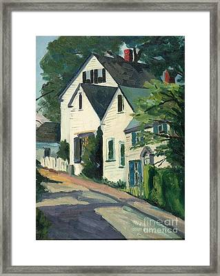 Houses In Rockport, Ma Framed Print by Jeri Borst