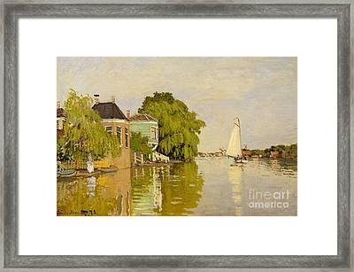 Houses On The Achterzaan, 1871  Framed Print by Claude Monet
