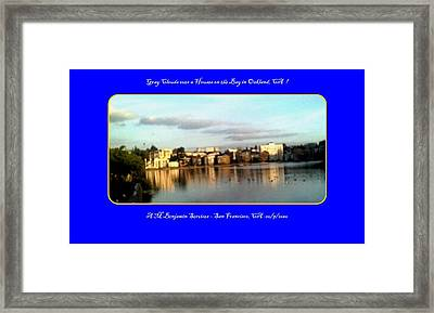 Houses On The Bay Framed Print by Anthony Benjamin