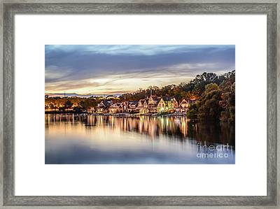 Houses On The Water Framed Print