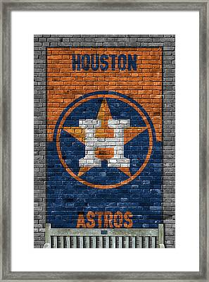 Houston Astros Brick Wall Framed Print