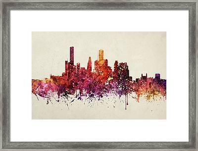 Houston Cityscape 09 Framed Print