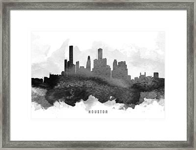 Houston Cityscape 11 Framed Print