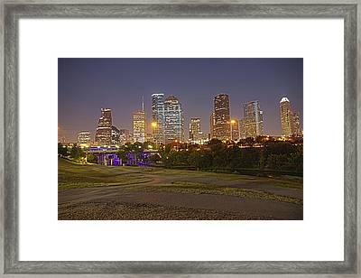 Houston Cityscape1 Framed Print