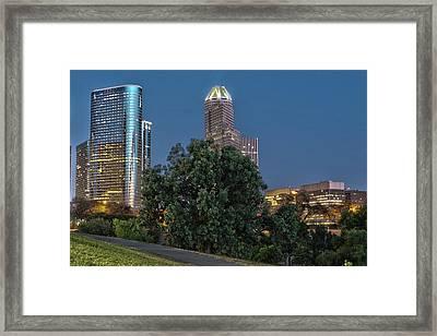 Houston Cityscape2 Framed Print