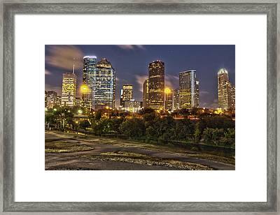 Houston Cityscape3 Framed Print
