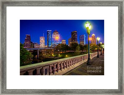 Houston Evening Stoll Framed Print