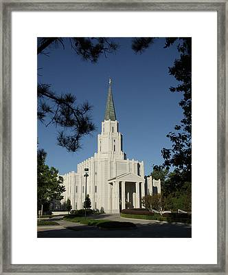 Houston Lds Temple Framed Print
