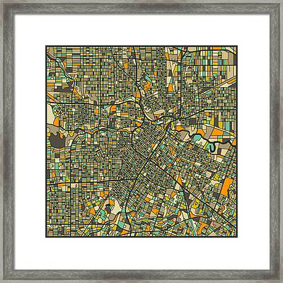 Houston Map Framed Print