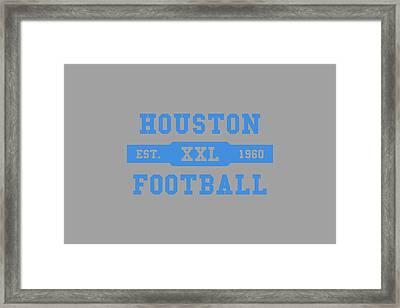 Houston Oilers Retro Shirt Framed Print by Joe Hamilton