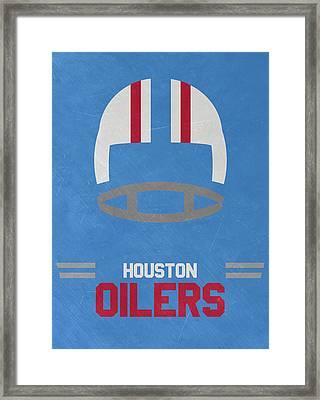 Houston Oilers Vintage Art Framed Print by Joe Hamilton
