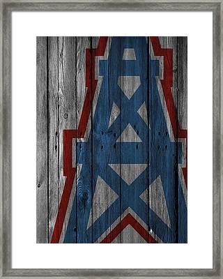 Houston Oilers Wood Fence Framed Print by Joe Hamilton