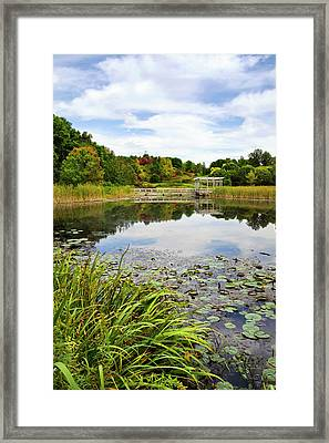 Houston Pond Framed Print by Christina Rollo