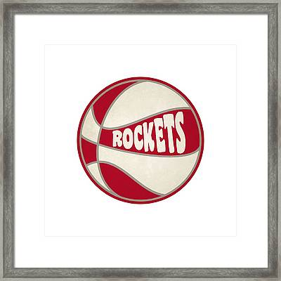 Houston Rockets Retro Shirt Framed Print
