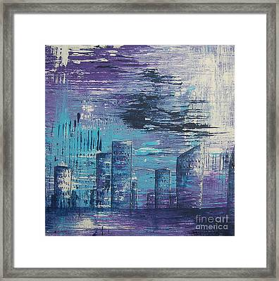 Houston Skyline 2 Framed Print