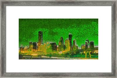 Houston Skyline 49 - Da Framed Print