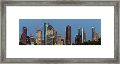 Framed Print featuring the photograph Houston Skyline Panorama by Jonathan Davison