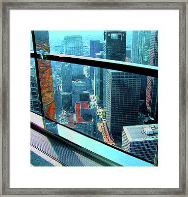 Houston South From Chase Tower Framed Print