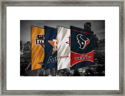 Houston Sports Teams 2 Framed Print by Joe Hamilton