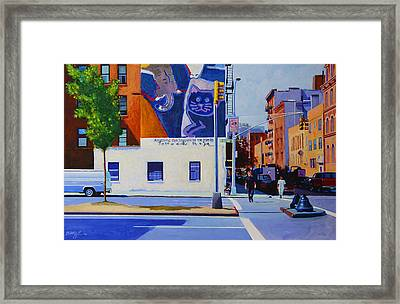 Houston Street Framed Print by John Tartaglione
