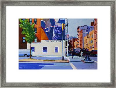 Houston Street Framed Print by John Tartaglione