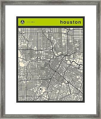 Houston Street Map Framed Print